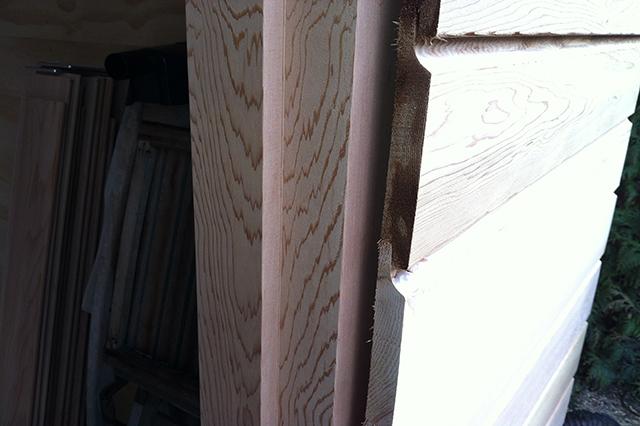 binnenkant deurkozijn